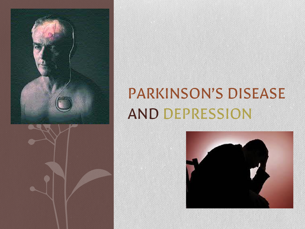 Preview of Parkinsons and Depression