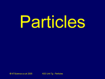 Preview of Particles Quiz