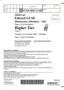 gcse maths intermediate past papers