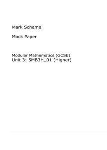 Preview of past paper unit 3 modular mark scheme
