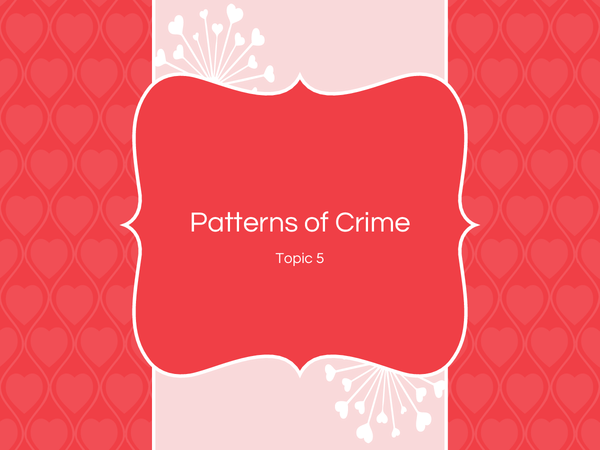 Preview of Patterns of Crime