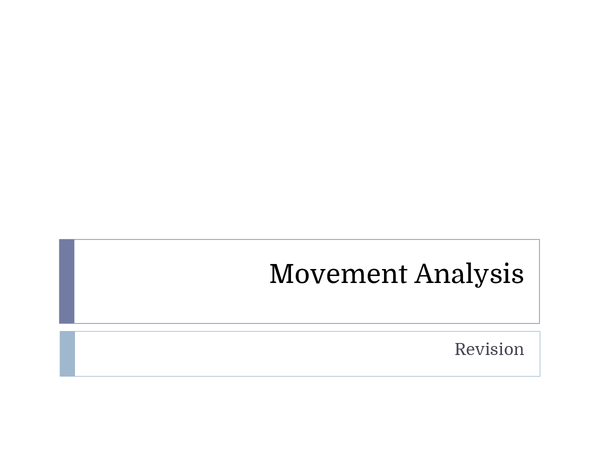 Preview of PE AQA AS Level Movement Analysis Revision Powerpoint