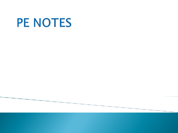 Preview of PE Edexcel Notes in FULL - All you need to know