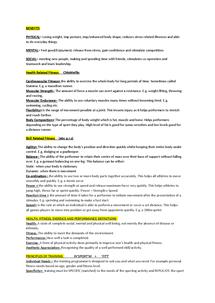 Preview of P.E GCSE NOTES :)