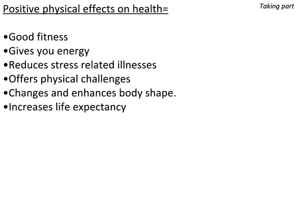 Preview of Pe revision GCSE