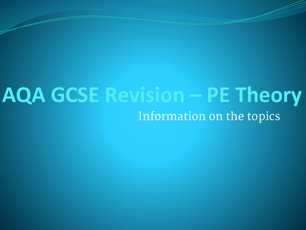 Preview of PE theory AQA subjects