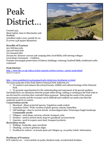 Preview of Peak District Tourism Case Study