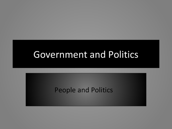 Preview of People and Politics Powerpoint