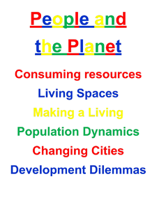 Preview of people and the planet complete (edexcel unit 2)