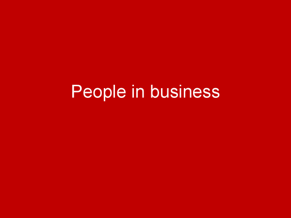 Preview of People in Business