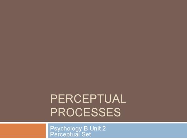 Preview of Perceptual Set