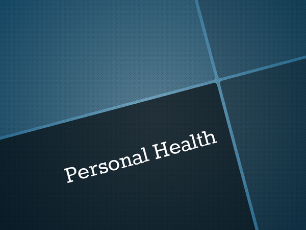 Preview of Personal Health