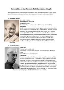 Preview of Personalities of people in the Indian independence struggle