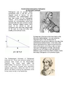 Preview of philosophers - Pythagoras