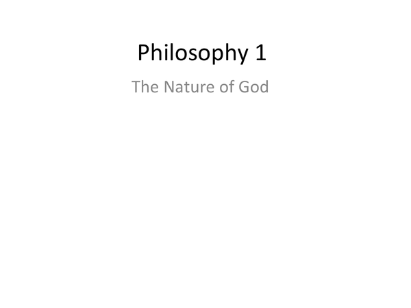 Preview of Philosophy 1 Nature of the Deity (Christianity) Revision Notes