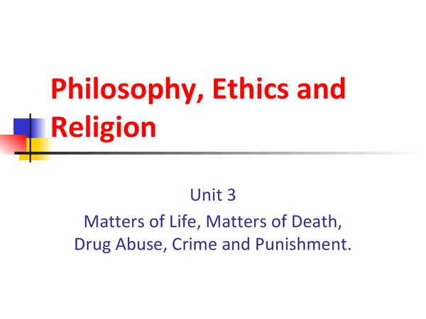 Preview of Philosophy, Ethics and Religion (RE/RS) Unit 3