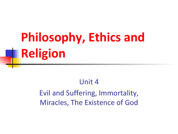 Preview of Philosophy, Ethics and Religion (RE/RS) Unit 4