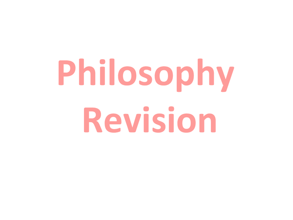 Preview of Philosophy Revision