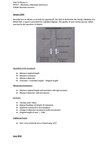 Preview of PHYA2 6 Mark Question Answers Revision Style