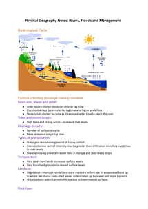 Preview of Physical Geography Rivers Notes AS Level