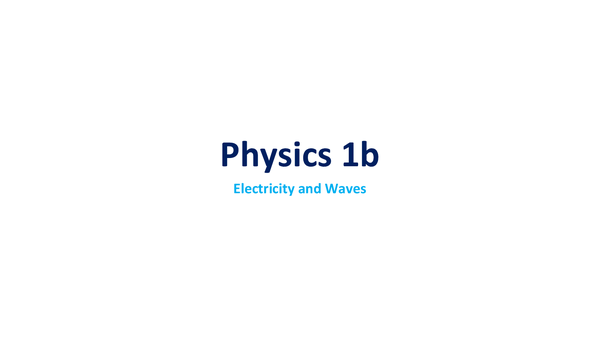 Preview of Physics 1b