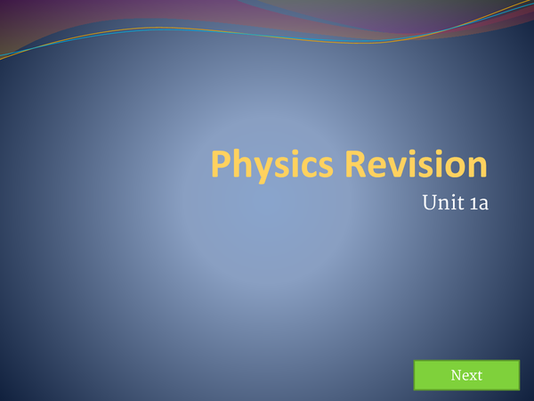 Preview of Physics AQA Unit 1A