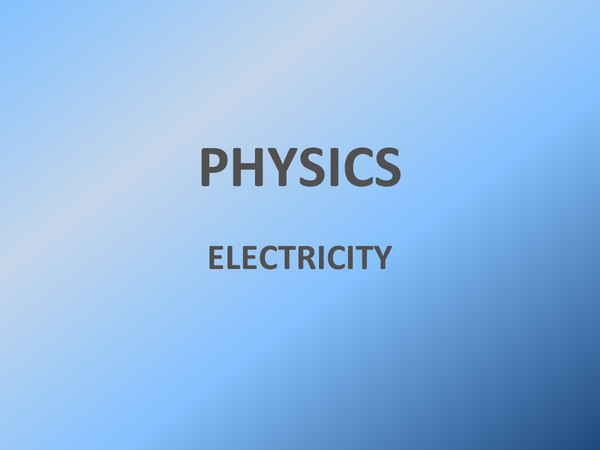 Preview of Physics AS - electricity