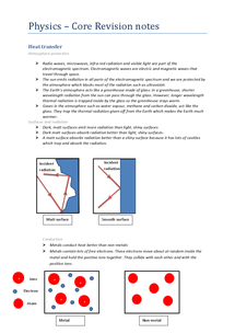 Preview of Physics GCSE AQA Core Revision