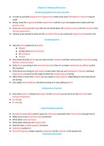 Preview of Physics - Mechanics - Vectors