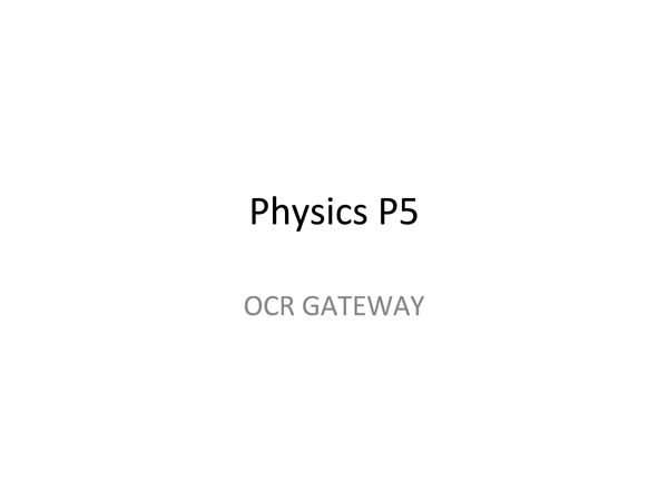Preview of Physics Module 5
