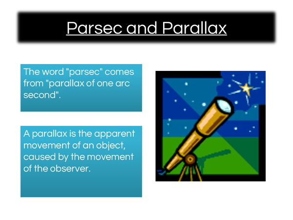 Preview of Physics: Parsec & Parallax made easy