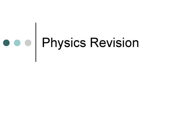 Preview of Physics Revision - B3 AQA