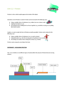 Preview of Physics Summary Notes - Mechanics and Heat - Friction