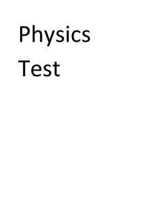 Preview of Physics test