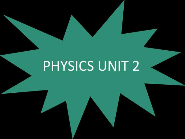 Preview of PHYSICS UNIT 2 GCSE AQA
