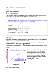 Preview of PHYSICS UNIT 2: MATERIALS