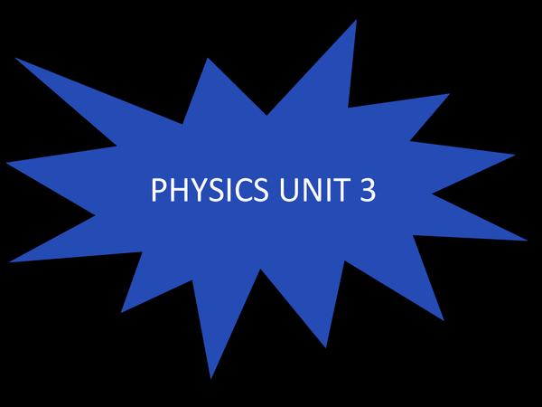 Preview of PHYSICS UNIT 3 GCSE AQA