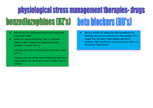 Preview of physiological stress management therapies drugs