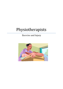 Preview of Physiotherapists - Exercise and Injury