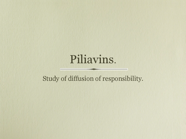 Preview of Piliavin et al.