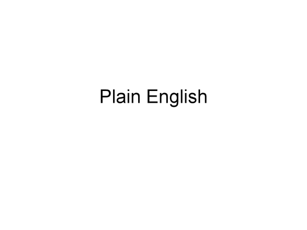 Preview of Plain English
