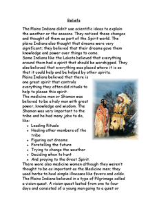 Preview of Plains indians