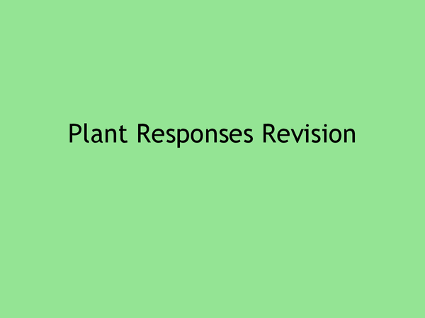 Preview of Plant responses revision powerpoint