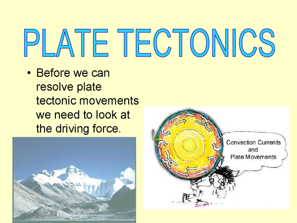 Preview of plate tectonic movements