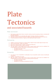 Preview of Plate Tectonics and Associated Hazards