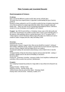Preview of Plate Tectonics and Associated Hazards   Hazard management of Volcanoes: