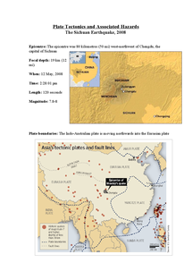 Preview of Plate Tectonics and Associated Hazards The Sichuan Earthquake, 2008 - very detailed with pictures
