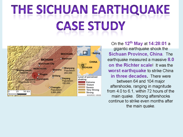 Preview of Plate Tectonics Case Study - Sichuan Earthquake