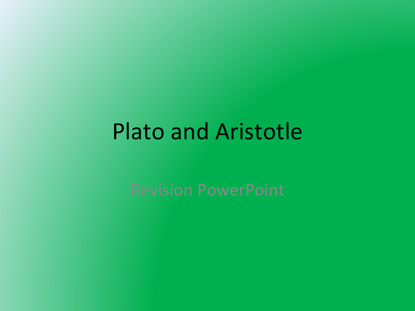Preview of Plato and Aristotle