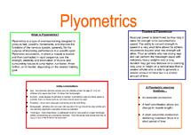 Preview of Plyometrics
